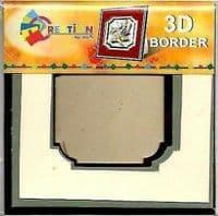 Creation By TBZ Card Making Decoupage 3D Border Mount 521135